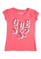 GUESS - Logo tee with sequins Magenta