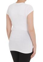 Kicker Clothing - Short-sleeve v-neck top  White