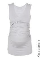Kicker Clothing - Sleeveless wrap top Grey