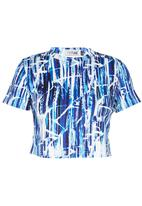 Fortune - Batik Scuba Top Blue/White