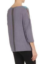 STYLE REPUBLIC - High-low Top Grey
