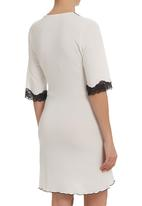 Lila Rose - Lace gown with cut-out detail  Milk