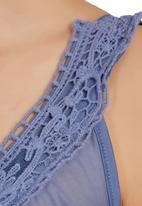 Lila Rose - Lace-inset Sleepwear Blue
