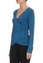 KARMA - Layered Silk Knit Top Blue