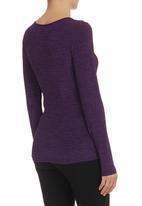 KARMA - Layered Silk Knit Top Mid Purple