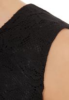 KARMA - Lace Shell Top Black