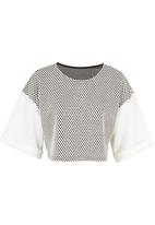 STYLE REPUBLIC - Boxy crop top Black/White