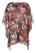 edit - Printed kaftan tunic Multi-colour