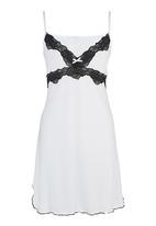 Lila Rose - Lace chemise with lace detail Milk