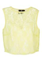 STYLE REPUBLIC - Lace Crop Top Yellow