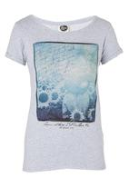 All About Eve - Daisy-printed Tee Pale Grey