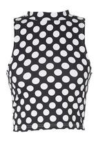 All About Eve - Nancy spot crop top Black/White