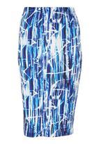 Fortune - Batik Scuba Skirt Blue/White