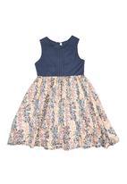 Kate Jordan - Sleeveless Dress With Pintuck Detail Coral