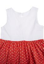 Kate Jordan - Sleeveless Dress With Pintuck Detail White