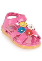 Foot Focus - Floral Sandals Pink
