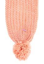 FUNKY FISH - Scarf with pom-pom detail Pink