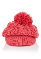FUNKY FISH - Peak hat with knit detail Pink