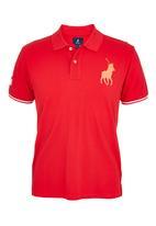 POLO - Numerical polo shirt Red