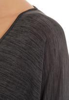 Slick - Silk top Dark Grey