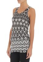 Slick - Printed cami Black/White