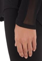 Slick - Top with mesh inset Black