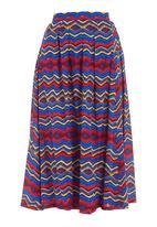 STYLE REPUBLIC - Printed 50s skirt Multi-colour
