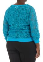 edge - Lace sweater Turquoise