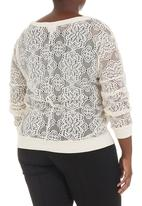 edge - Lace sweater milk