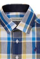 POLO - Polo checked shirt Blue