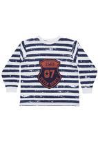 Seven Ounce - Long-sleeved T-shirt  Navy