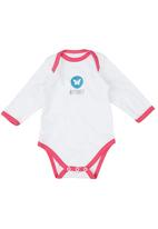Basic Beings - Butterfly Babygro White