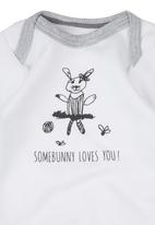 Basic Beings - Somebunny Bodysuit White