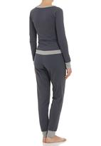 edge - Colourblock onesie Dark Grey