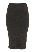 STYLE REPUBLIC - Metallic pencil skirt Metallic