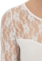 edit - Sweetheart lace top White