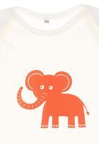 Petit Pois - Elephant-print onesie White