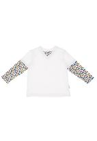 Portchie Gear - Long-sleeve tee with car print Multi-colour
