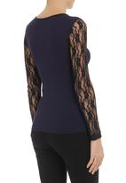 edit - Sweetheart lace top Mid Blue