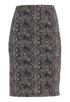 Five Legends - Snakeskin pencil skirt Neutral