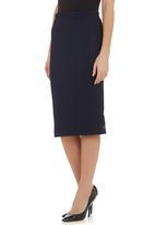 STYLE REPUBLIC - Basket weave pencil skirt Navy