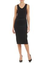 STYLE REPUBLIC - Scuba biker pencil skirt Black