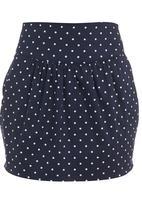 adam&eve; - Polka-dot tulip skirt Blue/White