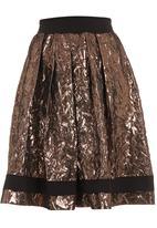 Ilan - Mara high-waisted skirt  Gold