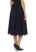 AMANDA LAIRD CHERRY - Midi mesh skirt navy