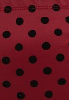 edit - Polka Dot Pencil Skirt Red