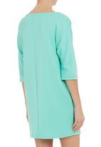 edit - Zip trim shift tunic Turquoise