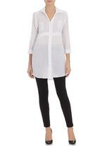 edit - Longer-length shirt White