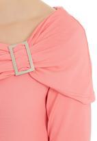 edit - Off the shoulder top pale Pink