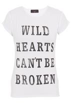 London Hub - Wild hearts can't be broken T-shirt Black/White